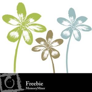 Stamped flower medium