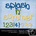 Splash n Summer Alphabet Pack-$1.99 (Ettes and Company by Annette)