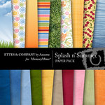 Splash n Summer Paper Pack-$3.49 (Ettes and Company by Annette)
