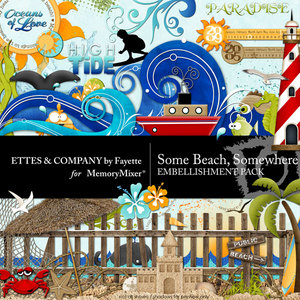 Somebeachsomewhereembellishments medium