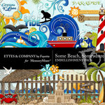 Some Beach Somewhere Embellishment Pack-$3.50 (Ettes and Company by Fayette)