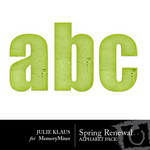 Spring Renewal Alphabet Pack-$0.99 (Julie Klaus)