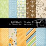 Spring Renewal Paper Pack-$3.99 (Julie Klaus)