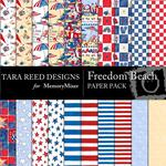 Freedom Beach Paper Pack-$1.99 (Tara Reed Designs)