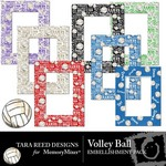 Volleyball Embellishment Pack-$2.50 (Tara Reed Designs)