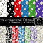 Volleyball Paper Pack-$4.00 (Tara Reed Designs)
