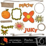 Peaches Embellishment Pack-$3.00 (Amy Sumrall)
