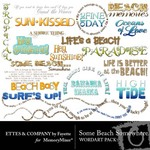 Some Beach Somewhere WordArt-$2.00 (Ettes and Company by Fayette)