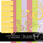 The Little Things Mini Pack May-$3.00 (Lasting Impressions)