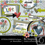 Be Inspired Embellishment Pack-$3.50 (Ettes and Company by Fayette)