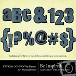 Be Inspired Denim Alphabet Pack-$1.00 (Ettes and Company by Fayette)