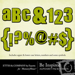 Be Inspired Green Alphabet Pack-$1.00 (Ettes and Company by Fayette)