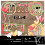 PSiLY Embellishment Pack-$3.49 (Ettes and Company by Fayette)