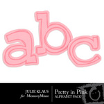 Pretty in Pink Alphabet Pack-$1.00 (Julie Klaus)
