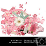 Pretty in Pink Embellishment Pack-$3.50 (Julie Klaus)