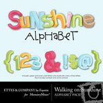 Walking on Sunshine Alphabet Pack-$1.50 (Ettes and Company by Fayette)