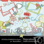 Staycation Embellishment Pack-$3.50 (Ettes and Company by Fayette)