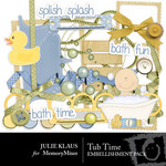 Tub Time Embellishment Pack-$3.00 (Julie Klaus)