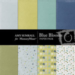 Blue Blooms Paper Pack-$4.00 (Amy Sumrall)