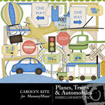 Planes Trains and Automobiles Embellishment Pack-$2.49 (Carolyn Kite)