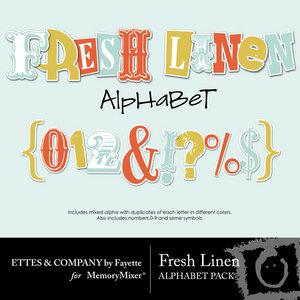 Freshlinenalphabetpack medium