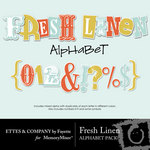 Fresh Linen Alphabet Pack-$1.49 (Ettes and Company by Fayette)