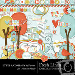 Fresh Linen Embellishment Pack-$3.50 (Ettes and Company by Fayette)