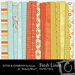 Fresh Linen Paper Pack-$3.99 (Ettes and Company by Fayette)