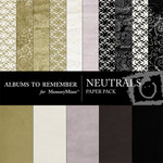 Neutral Paper Pack-$3.99 (Albums to Remember)