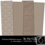 Be My Guest Paper Pack Taupe-$2.00 (Ettes and Company by Annette)