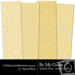 Be My Guest Paper Pack Sunflower-$2.00 (Ettes and Company by Annette)