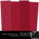 Be My Guest Paper Pack Red-$2.00 (Ettes and Company by Annette)