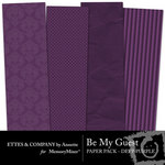 Be My Guest Paper Pack Purple-$2.00 (Ettes and Company by Annette)