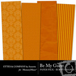 Be My Guest Paper Pack Orange-$2.00 (Ettes and Company by Annette)