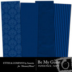 Be My Guest Paper Pack Navy-$2.00 (Ettes and Company by Annette)