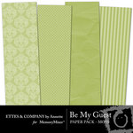 Be My Guest Paper Pack Moss-$2.00 (Ettes and Company by Annette)