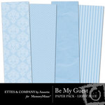 Be My Guest Paper Pack Light Blue-$2.00 (Ettes and Company by Annette)