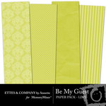 Be My Guest Paper Pack Lime-$2.00 (Ettes and Company by Annette)