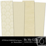 Be My Guest Paper Pack Cream-$2.00 (Ettes and Company by Annette)