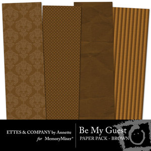 Collagebemyguestpaperpackbrown medium