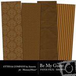 Be My Guest Paper Pack Brown-$2.00 (Ettes and Company by Annette)