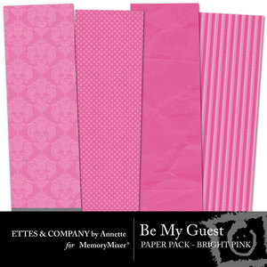 Collagebemyguestpaperpackbrightpink medium