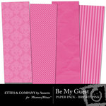 Be My Guest Paper Pack Bright Pink-$2.00 (Ettes and Company by Annette)