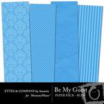Be My Guest Paper Pack Blue-$2.00 (Ettes and Company by Annette)