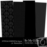 Be My Guest Paper Pack Black-$2.00 (Ettes and Company by Annette)