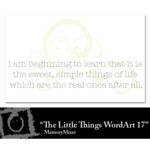 The Little Things WordArt 17 Freebie-$0.00 (Lasting Impressions)