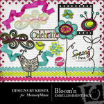 Bloomin Embellishment Pack-$3.00 (Designs by Krista)