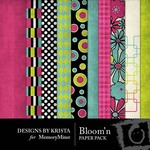 Bloomin Paper Pack-$4.00 (Designs by Krista)