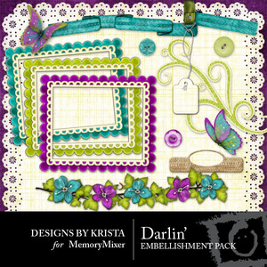 Darlin embellishment medium