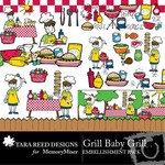 Grill Baby Grill Embellishment Pack-$3.49 (Tara Reed Designs)